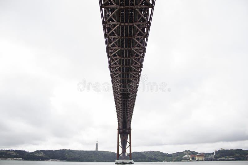 Ponte d'acciaio sopra il mare immagini stock libere da diritti
