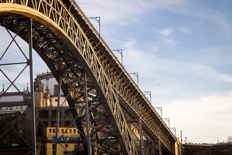 Ponte D Luis I bro Underview royaltyfria bilder