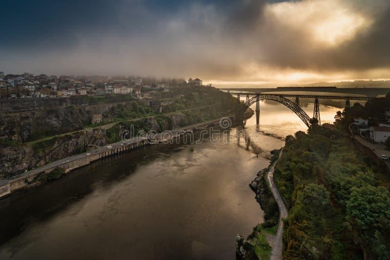 Ponte d Maria Pia Brifge w Porto zdjęcie royalty free