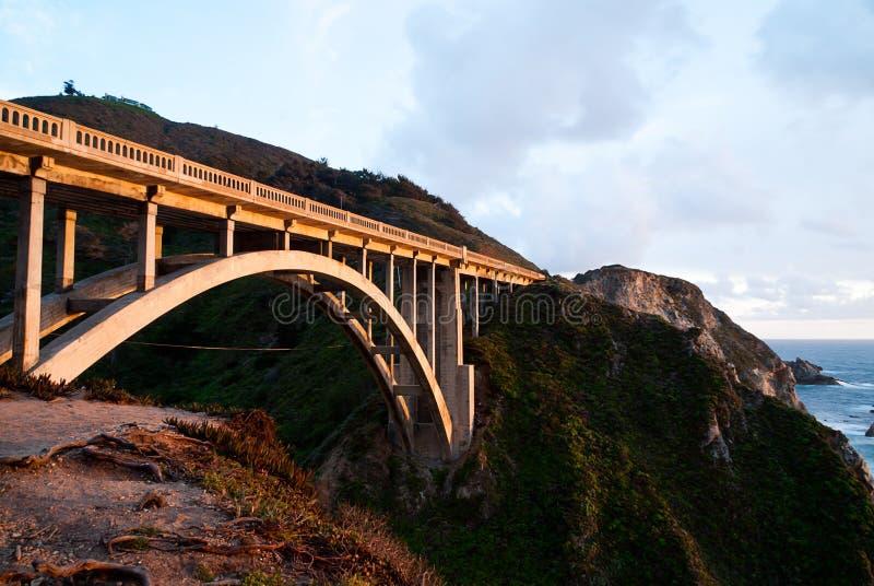 Ponte da angra de Bixby imagem de stock