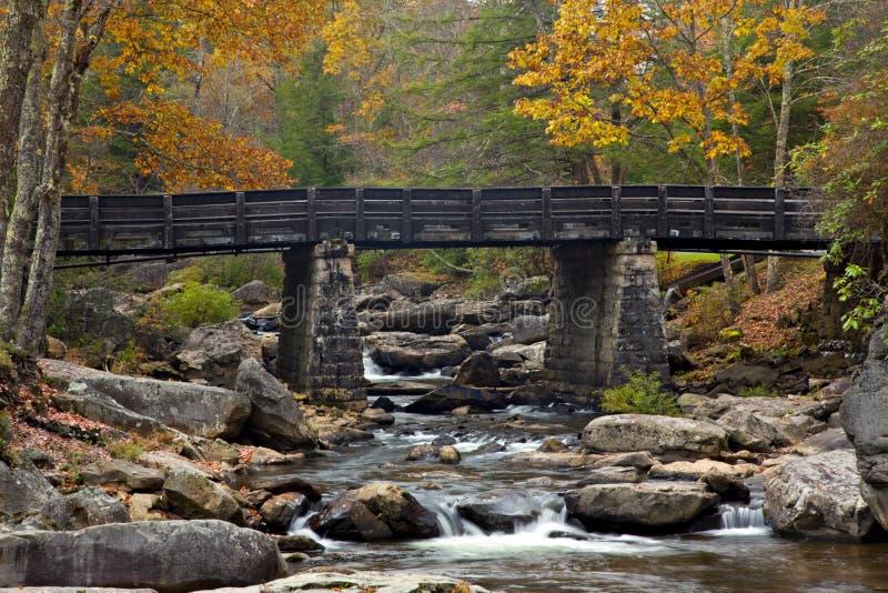 Ponte da angra do Glade no outono fotografia de stock