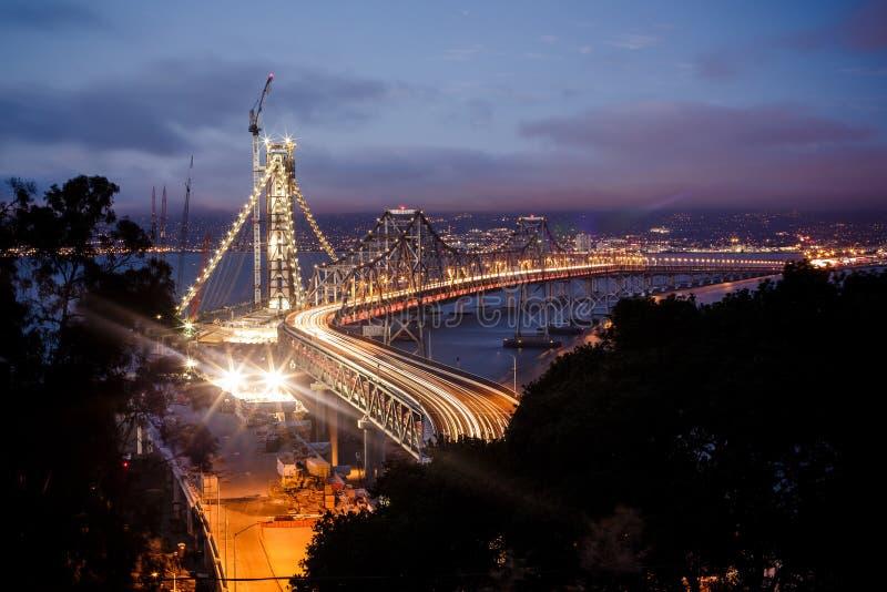 Ponte da baía de San Francisco - de Oakland imagem de stock