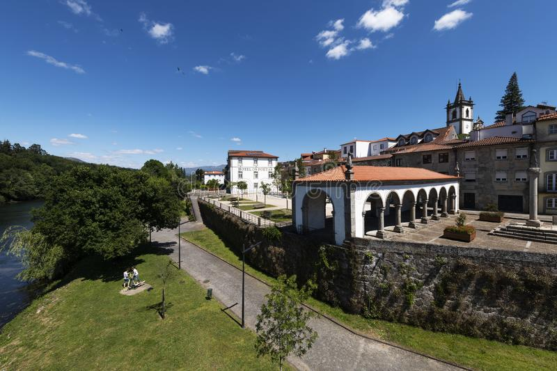 View of the traditional village of Ponte da Barca in the Minho Region of Portugal royalty free stock image