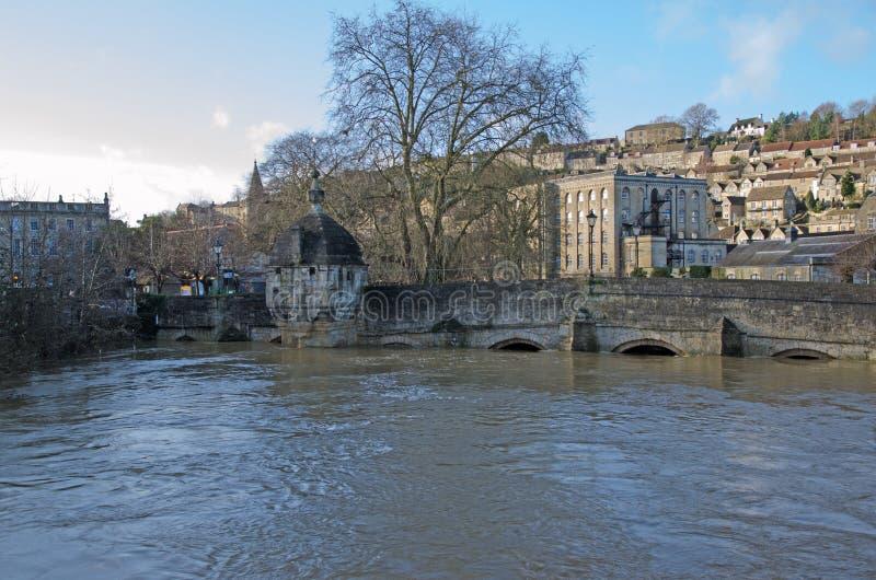 Ponte da cidade, Bradford em Avon, Reino Unido imagens de stock