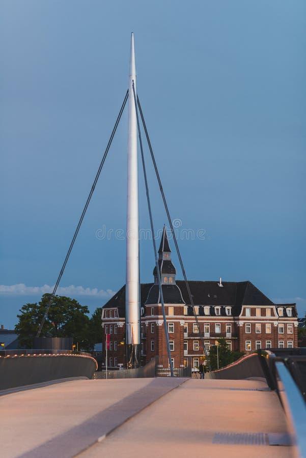 A ponte da cidade em Odense, Dinamarca fotografia de stock royalty free