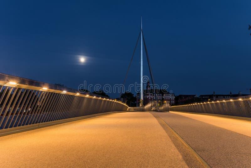 A ponte da cidade em Odense, Dinamarca imagem de stock
