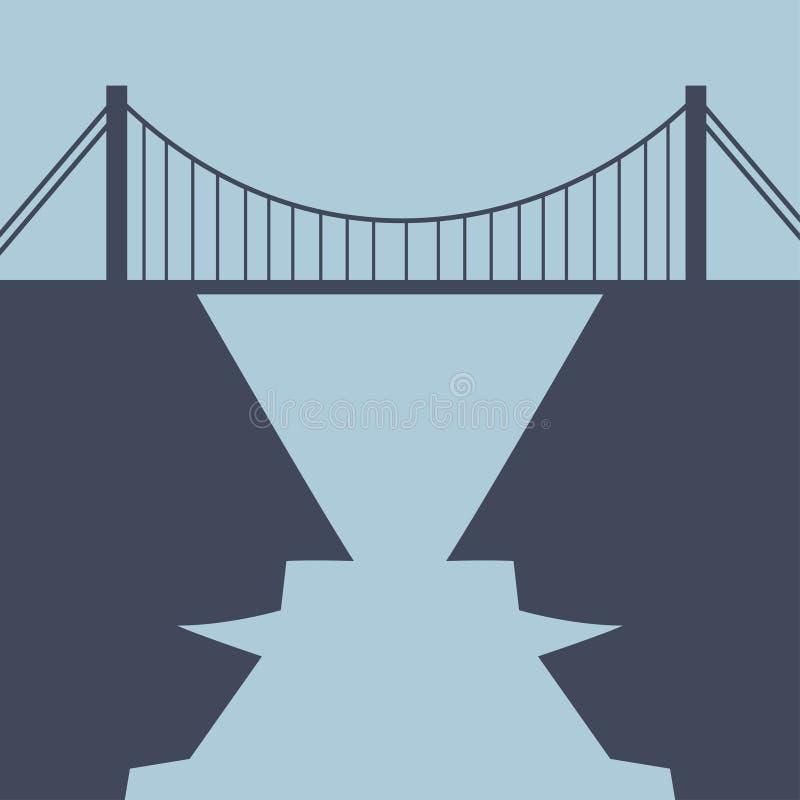 Ponte da construção entre mentes ilustração royalty free