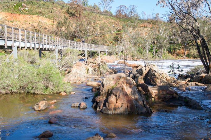 Ponte da corredeira de Bell imagens de stock