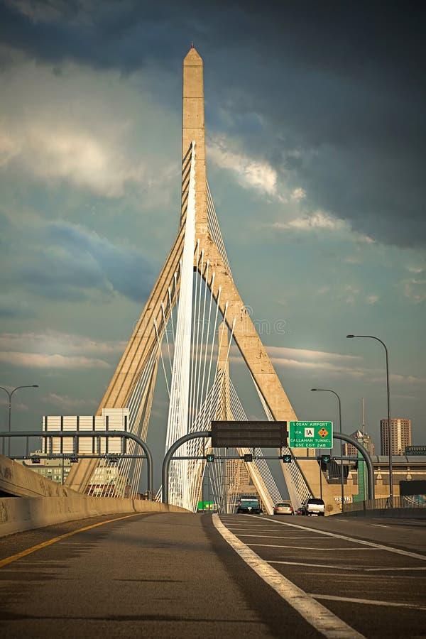 Ponte da estada do cabo de Leonard P Zakim de Boston fotos de stock royalty free
