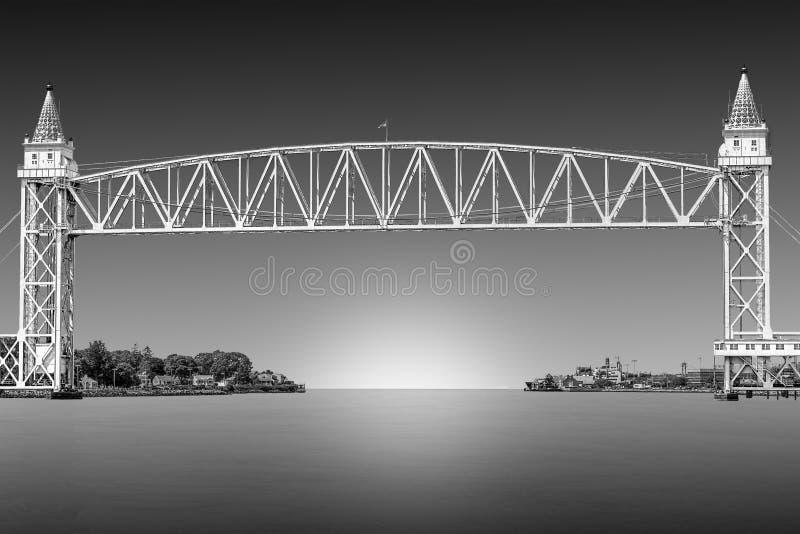 Ponte da estrada de ferro do canal de Cape Cod imagem de stock royalty free