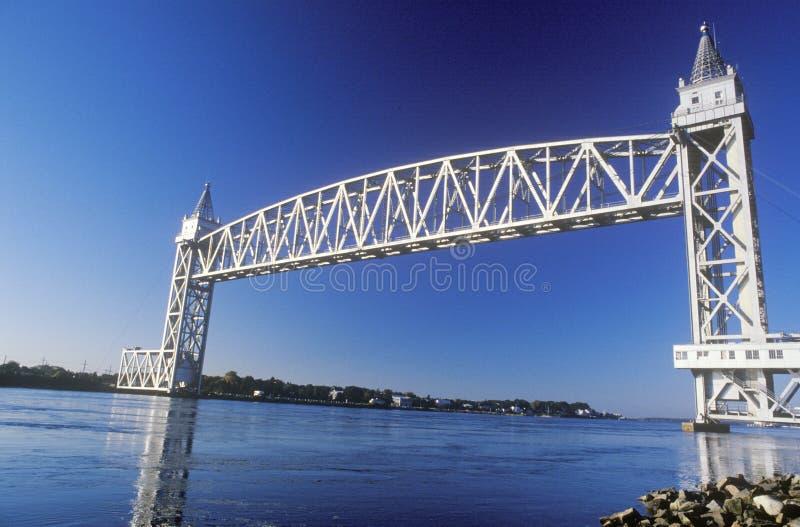 A ponte da estrada de ferro do canal de Cape Cod fotos de stock royalty free