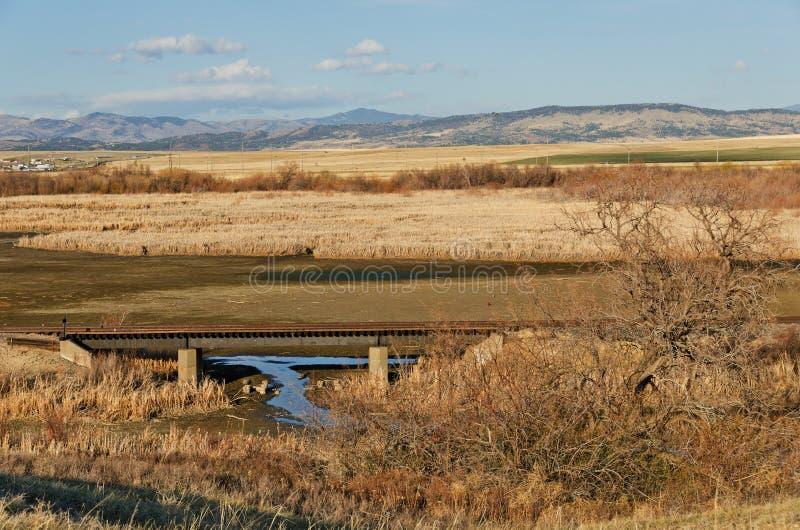 Ponte da estrada de ferro e uma vista foto de stock royalty free