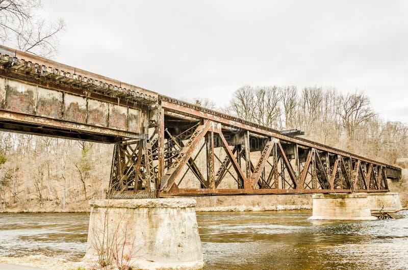 Ponte da estrada de ferro de Newaygo foto de stock