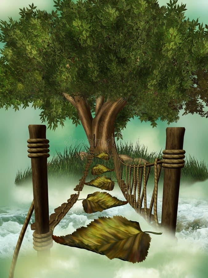 Ponte da fantasia ilustração do vetor