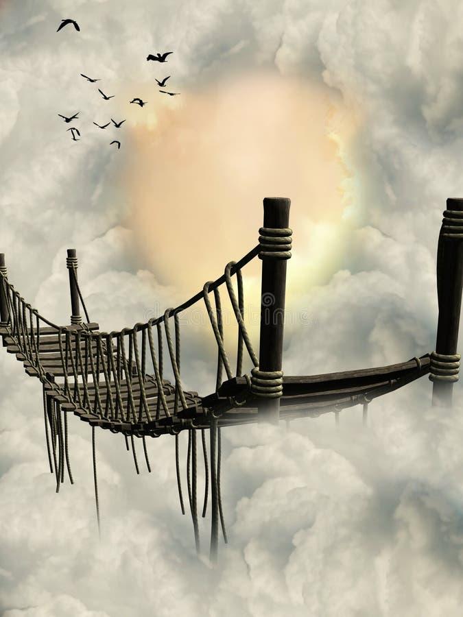 Ponte da fantasia ilustração royalty free