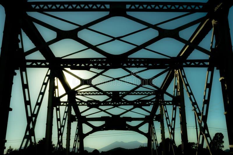 Ponte da garganta da noz em Route 66 velho fotos de stock royalty free