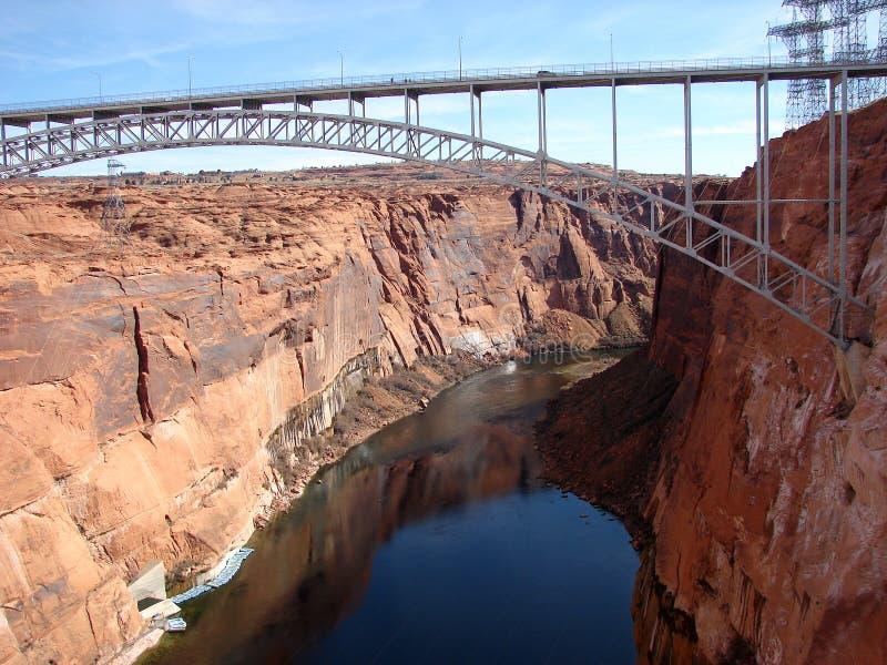 Ponte da Glen Canyon Dam immagini stock