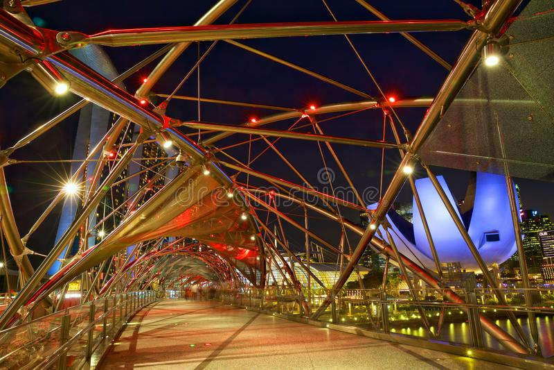 Ponte da h?lice em Singapore fotos de stock