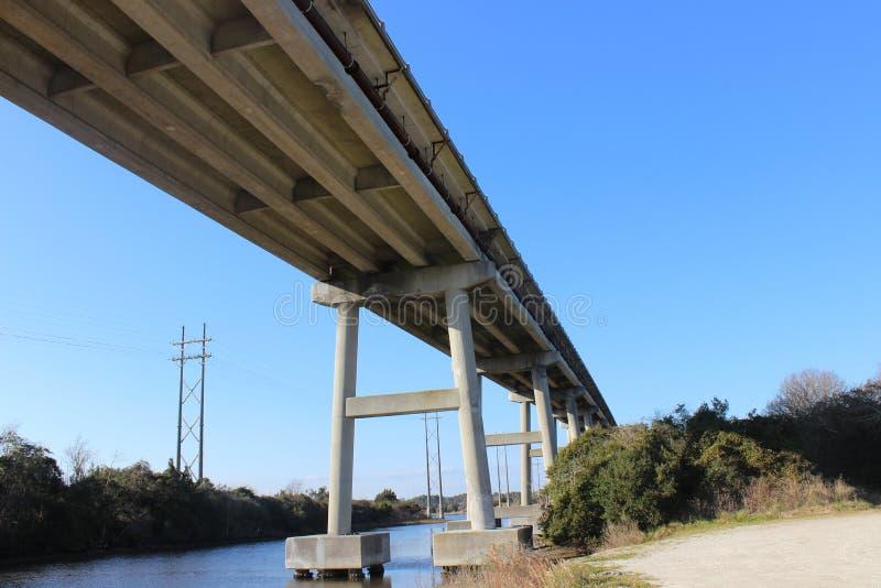Ponte da ilha de Topsail imagens de stock royalty free