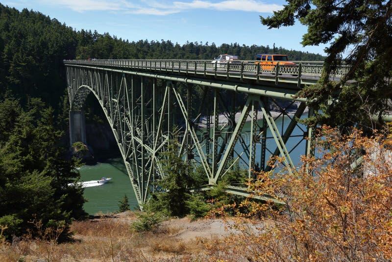 Ponte da passagem da decepção, Washington State, EUA imagem de stock royalty free