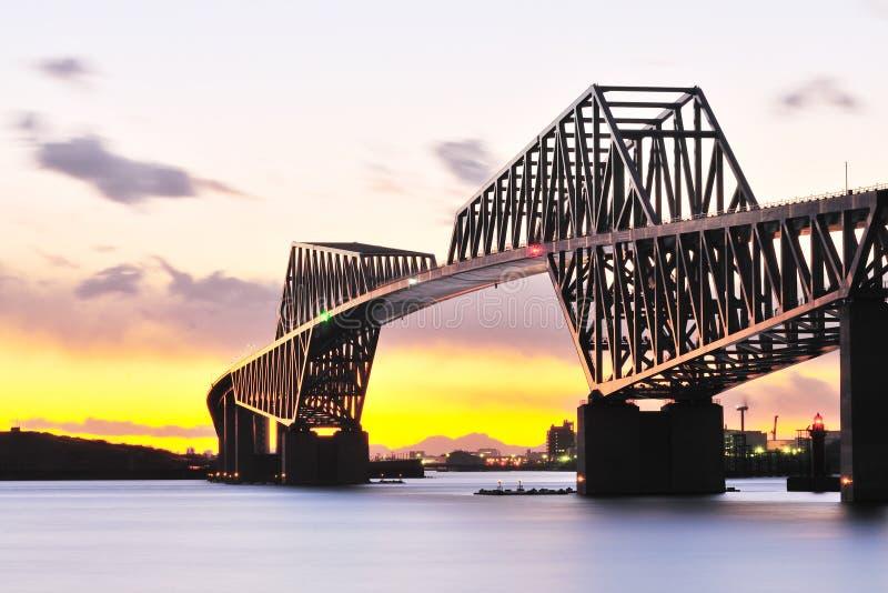 Ponte da porta de Tokyo fotografia de stock royalty free