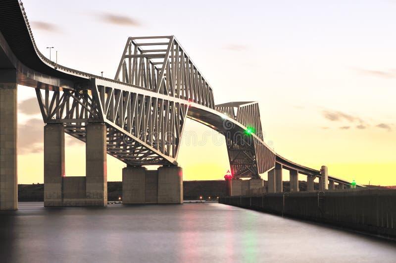 Ponte da porta de Tokyo imagens de stock