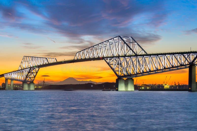 Ponte da porta do Tóquio imagens de stock royalty free