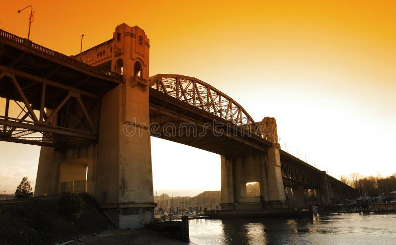Ponte da rua de Burrard foto de stock royalty free