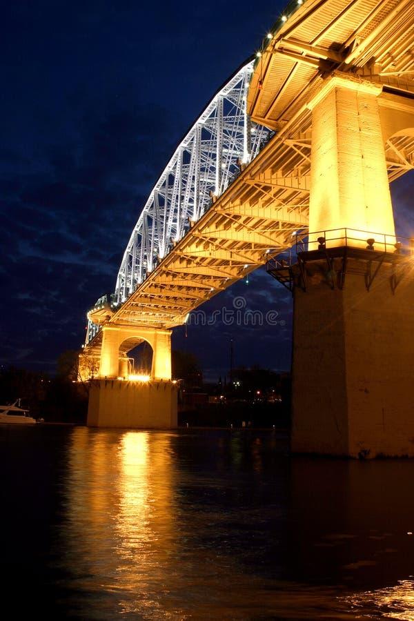 Ponte da rua de Shelby fotografia de stock royalty free