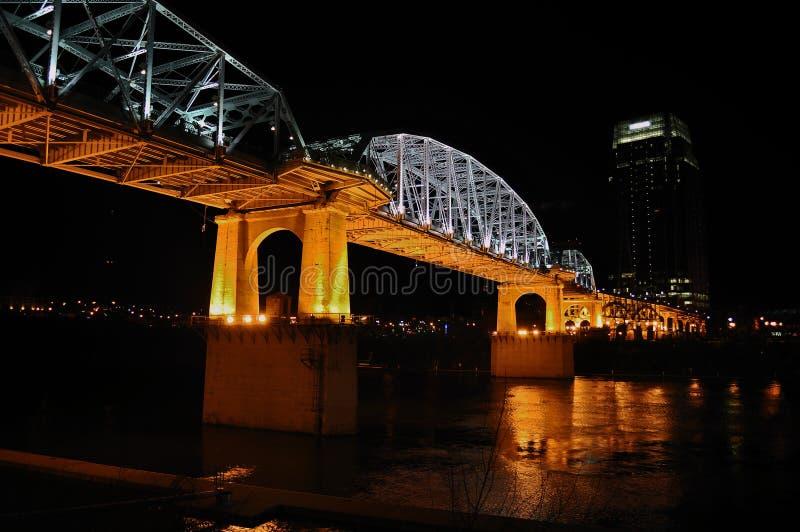Ponte da rua de Shelby de Nashville imagem de stock royalty free