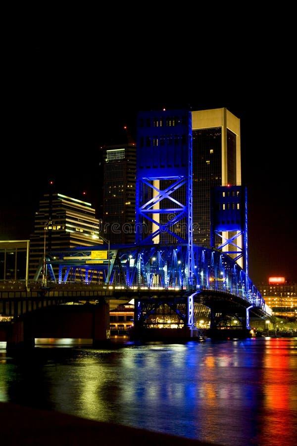 Ponte da rua principal, Jacksonville, Florida imagem de stock royalty free