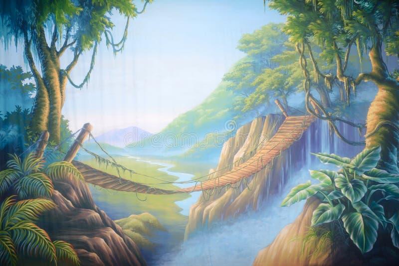 Ponte da selva ilustração royalty free