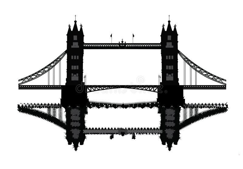 Ponte da torre de Londres ilustração do vetor