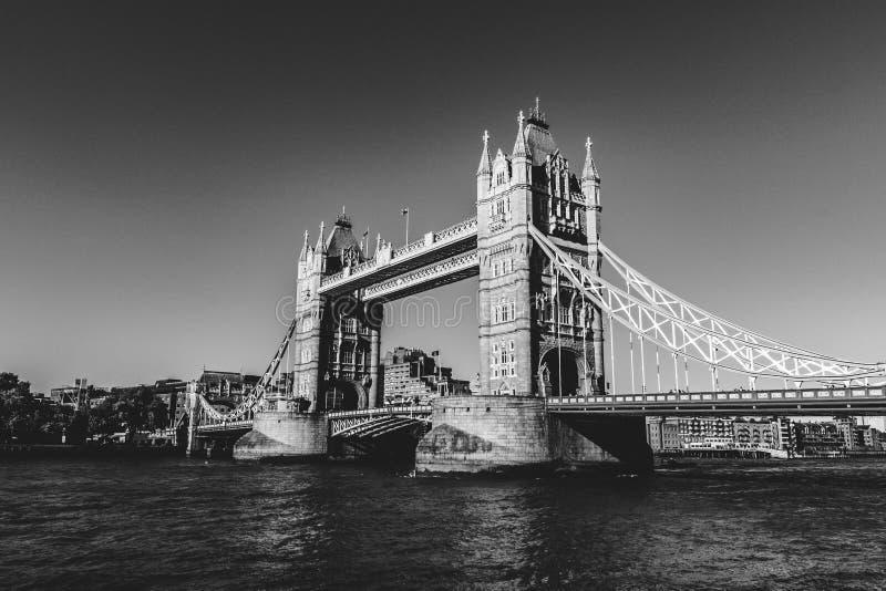 Ponte da torre em Londres em preto e branco fotos de stock royalty free