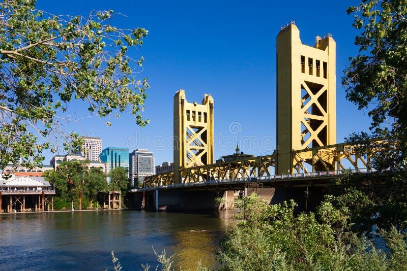 Ponte da torre em Sacramento foto de stock