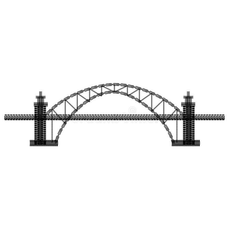 Ponte da trilha do pneu ilustração royalty free