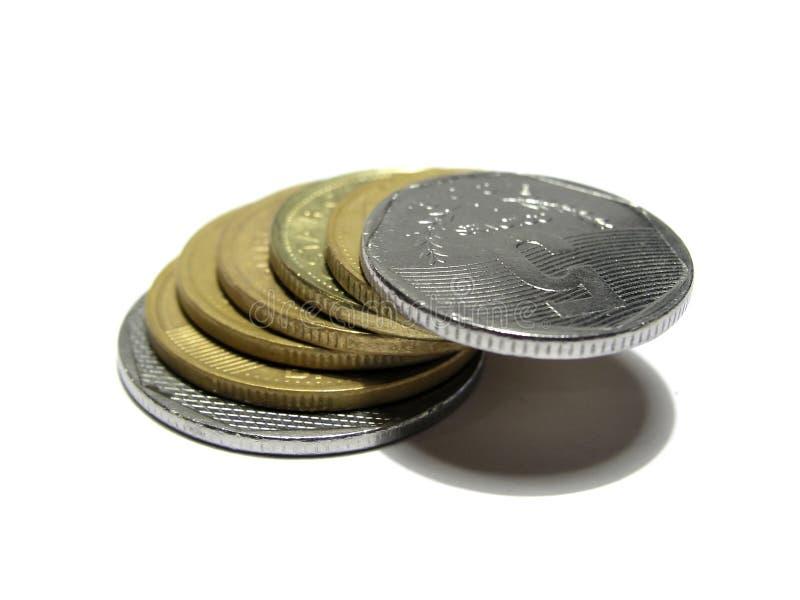 Ponte das moedas imagens de stock