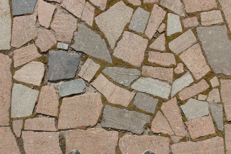 Ponte das pedras de formas e de cores diferentes fotos de stock royalty free