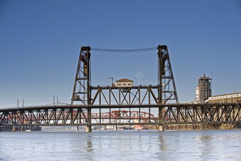 Ponte de aço fotografia de stock