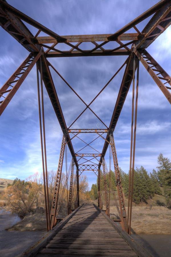 Ponte de aço velha. foto de stock royalty free