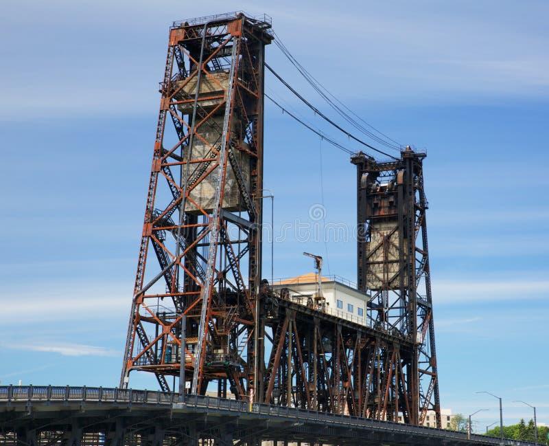 Ponte de aço velha Portland fotos de stock