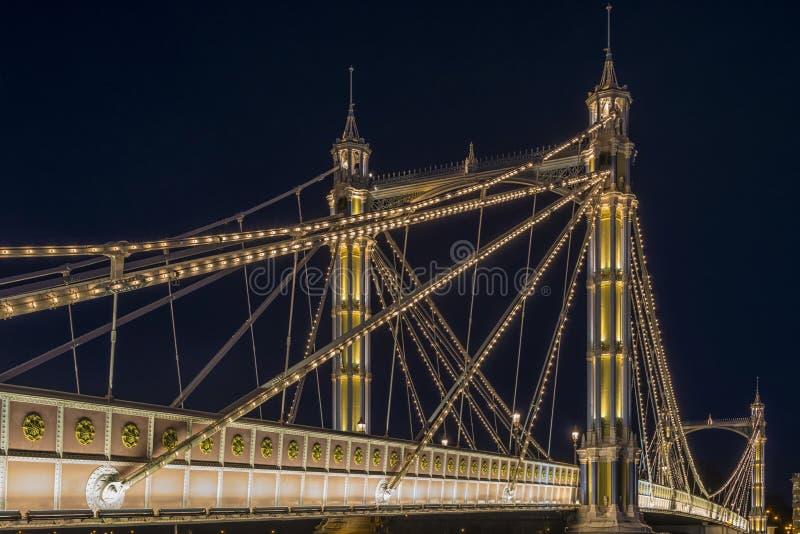 Ponte de Albert na noite imagens de stock