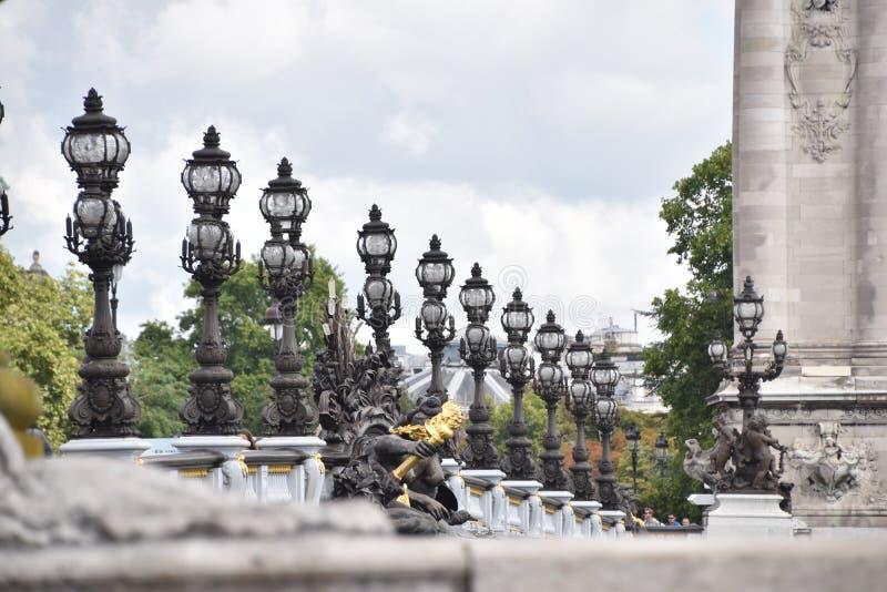 Ponte de Alexander em Paris foto de stock royalty free