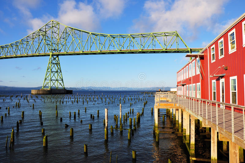 Ponte de Astoria-Megler foto de stock