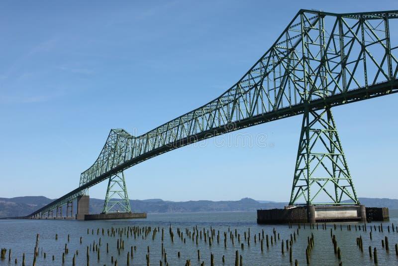 A ponte de Astoria, Oregon. imagens de stock royalty free