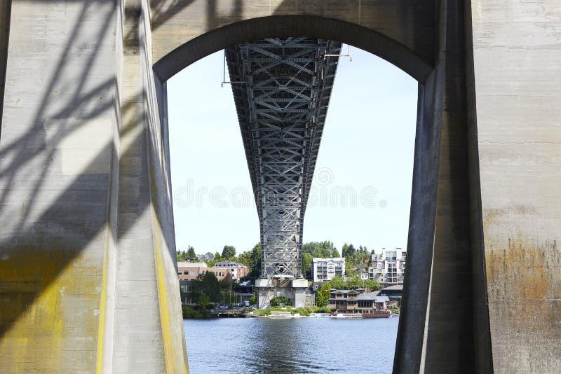 Ponte de Auora - Seattle, Washington fotos de stock