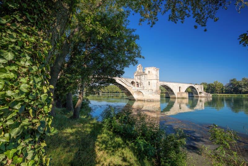 Ponte de Avignon em Avignon, Provence, França fotos de stock royalty free