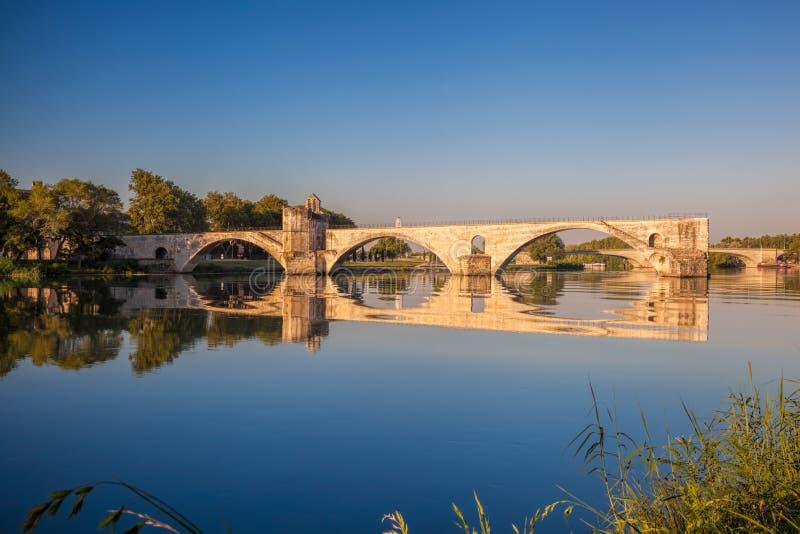 Ponte de Avignon em Avignon, Provence, França fotografia de stock