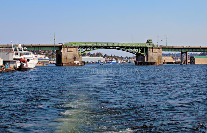 Ponte de Ballard fotografia de stock