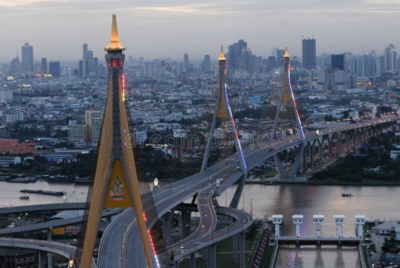 Download Ponte De Bhumibol Em Tailândia Foto de Stock - Imagem de construção, anel: 29849392